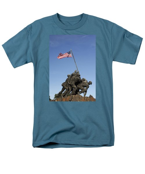 Raising The Flag On Iwo - 799 Men's T-Shirt  (Regular Fit) by Paul W Faust -  Impressions of Light