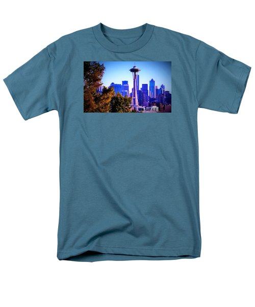 Seattle Afternoon Men's T-Shirt  (Regular Fit) by Martin Cline