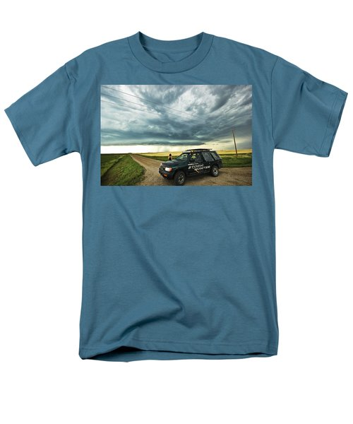 Men's T-Shirt  (Regular Fit) featuring the photograph Shelf Cloud Near Vibank Sk. by Ryan Crouse