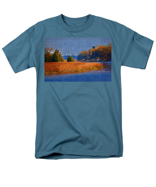 Sitting On The Dock Men's T-Shirt  (Regular Fit) by Donna Bentley