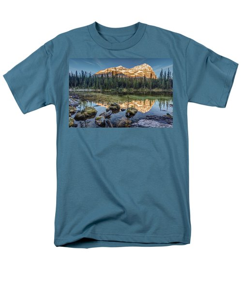 Sunrise In The Rocky Mountains Men's T-Shirt  (Regular Fit) by Pierre Leclerc Photography