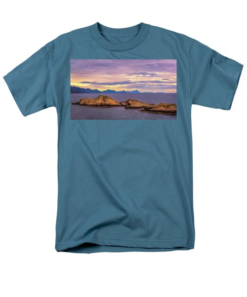 Men's T-Shirt  (Regular Fit) featuring the photograph Sunset In The North by Maciej Markiewicz
