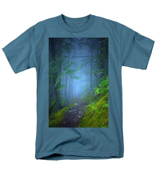 Men's T-Shirt  (Regular Fit) featuring the photograph The Forest Blues by Tara Turner