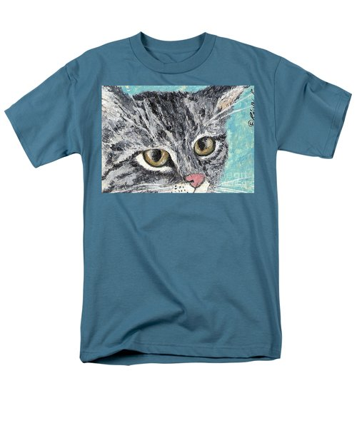 Men's T-Shirt  (Regular Fit) featuring the painting Tiger Cat by Reina Resto