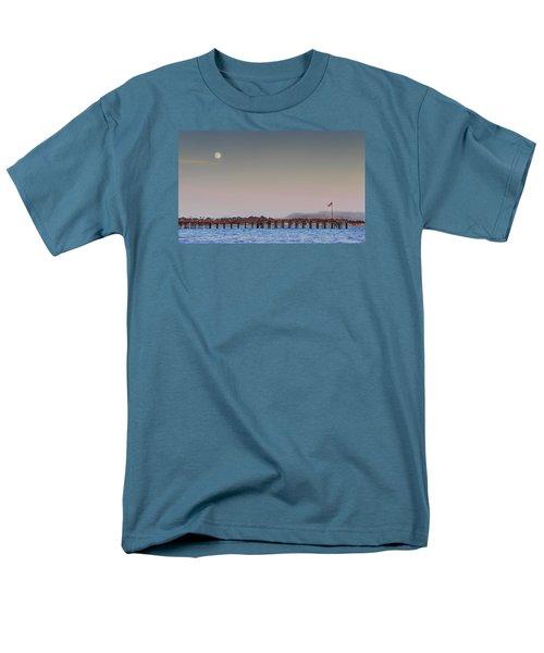 Ventura Pier Moonrise Men's T-Shirt  (Regular Fit) by Joe  Palermo