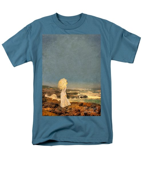 Victorian Lady By The Sea Men's T-Shirt  (Regular Fit) by Jill Battaglia