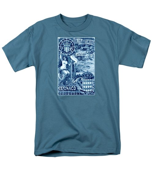 Men's T-Shirt  (Regular Fit) featuring the painting 1912 Monaco Automobile Rally by Historic Image