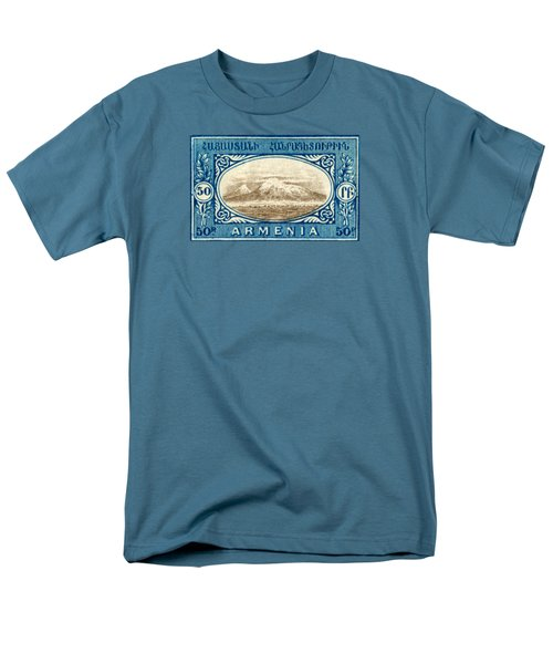 1920 Armenian Mount Ararat Stamp Men's T-Shirt  (Regular Fit) by Historic Image