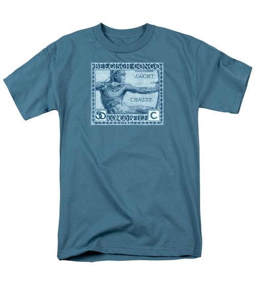 Men's T-Shirt  (Regular Fit) featuring the painting 1923 Belgian Congo Native Hunting by Historic Image