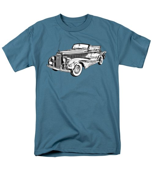 1938 Cadillac Lasalle Illustration Men's T-Shirt  (Regular Fit) by Keith Webber Jr