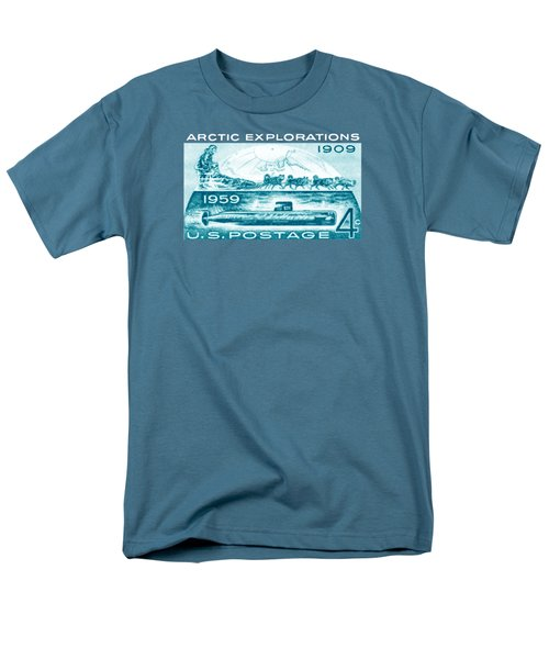 Men's T-Shirt  (Regular Fit) featuring the painting 1959 Arctic Explorations by Historic Image