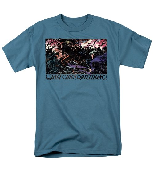 Men's T-Shirt  (Regular Fit) featuring the painting 1968 North Vietnamese Propaganda by Historic Image