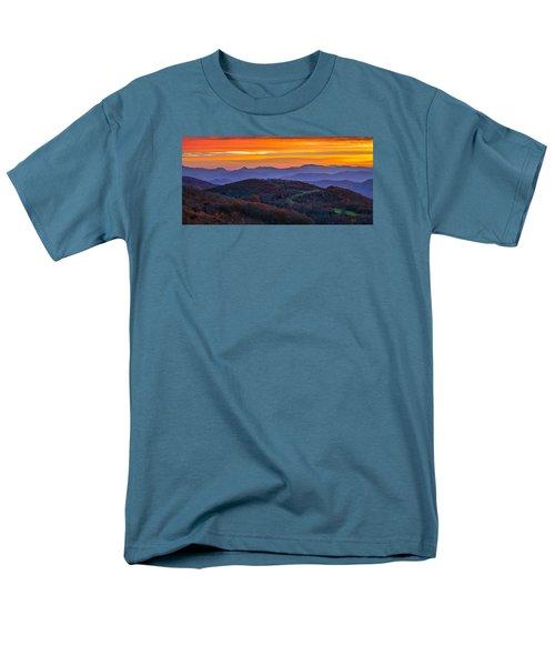 Appalachian Sunrise Men's T-Shirt  (Regular Fit) by Serge Skiba