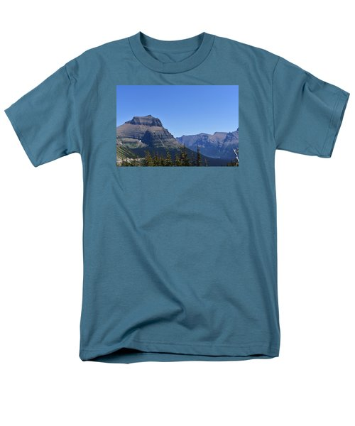 Fire Within Glacier National Park Men's T-Shirt  (Regular Fit) by Dacia Doroff