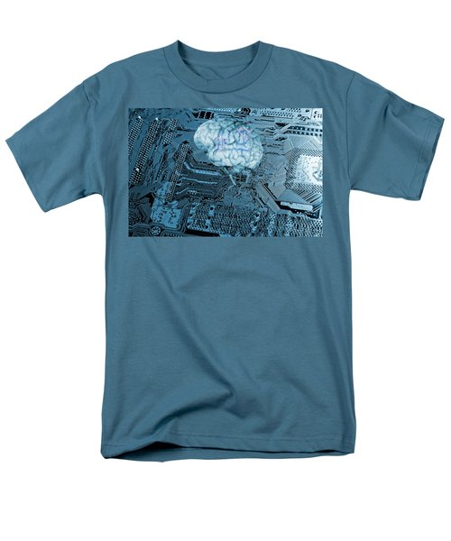 Human Brain And Communication Men's T-Shirt  (Regular Fit) by Christian Lagereek