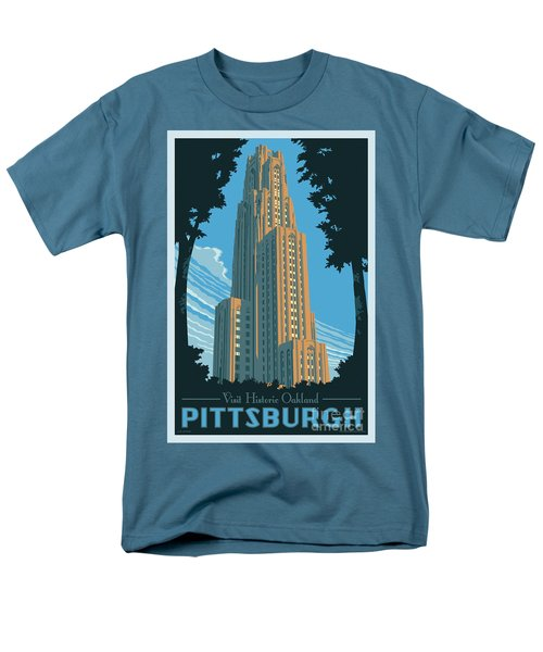Vintage Style Pittsburgh Travel Poster Men's T-Shirt  (Regular Fit) by Jim Zahniser