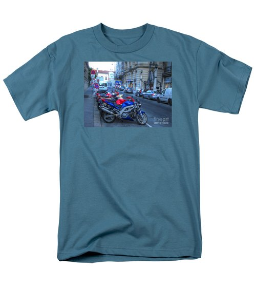 Men's T-Shirt  (Regular Fit) featuring the pyrography Yury Bashkin Street by Yury Bashkin