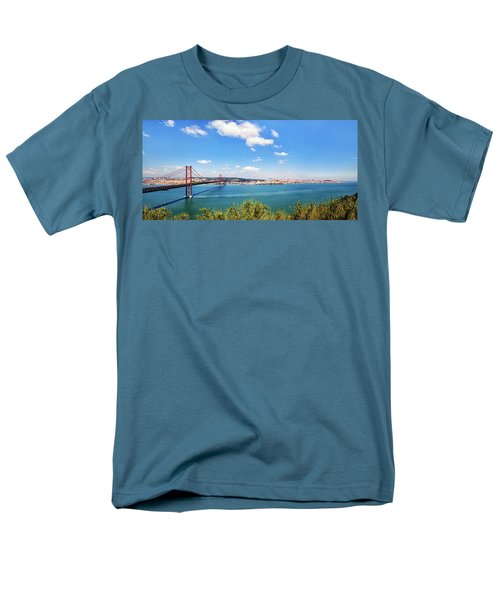 25th April Bridge Lisbon Men's T-Shirt  (Regular Fit)