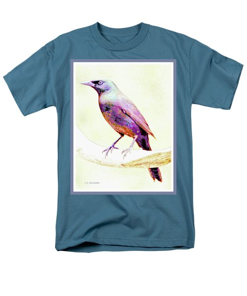 Great-tailed Grackle Men's T-Shirt  (Regular Fit) by A Gurmankin