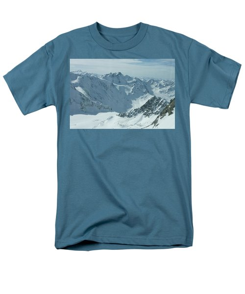 Pitztal Glacier Men's T-Shirt  (Regular Fit) by Christian Zesewitz