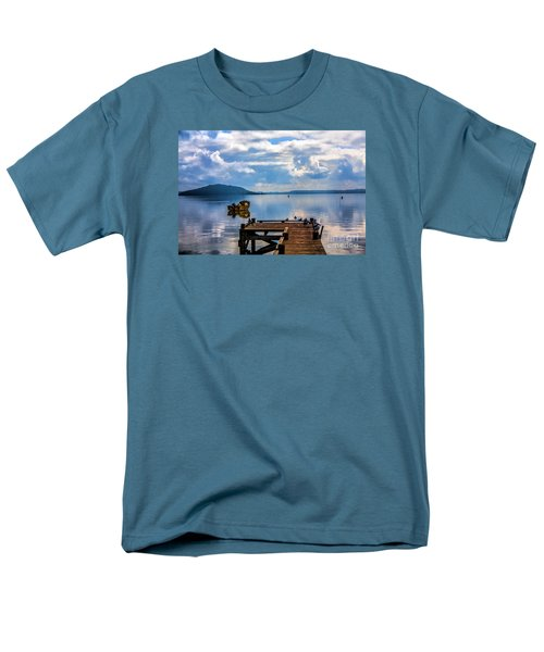 Men's T-Shirt  (Regular Fit) featuring the photograph Quiet Lake by Rick Bragan