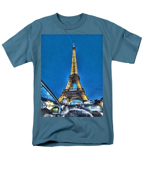 Men's T-Shirt  (Regular Fit) featuring the mixed media Yury Bashkin Paris by Yury Bashkin