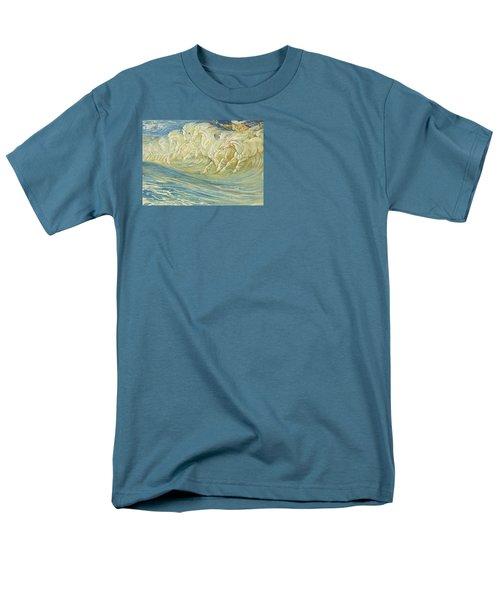 Neptune's Horses Men's T-Shirt  (Regular Fit) by Walter Crane