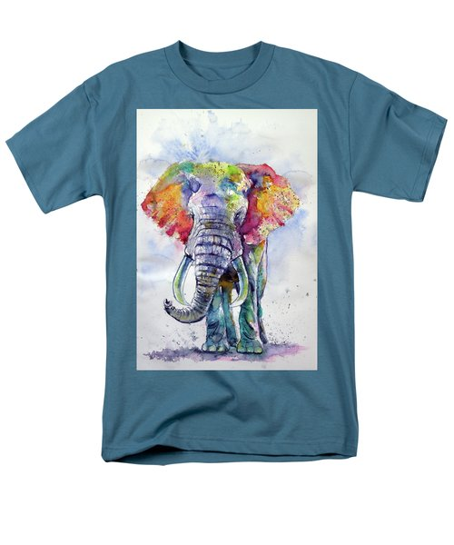 Colorful Elephant Men's T-Shirt  (Regular Fit)