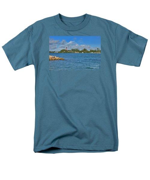 7- Jupiter Lighthouse Men's T-Shirt  (Regular Fit) by Joseph Keane