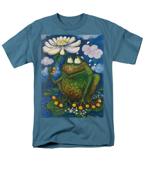 Frog In The Rain Men's T-Shirt  (Regular Fit) by Rita Fetisov