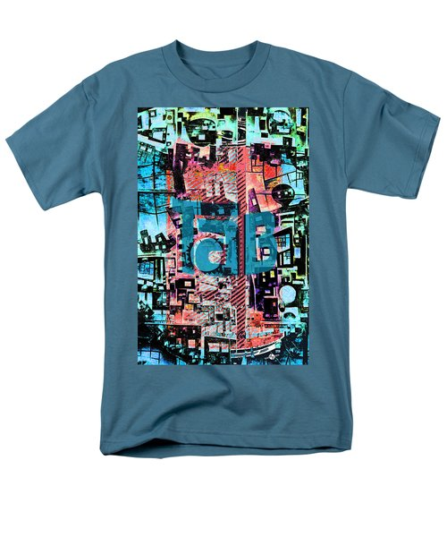 Men's T-Shirt  (Regular Fit) featuring the mixed media A Million Colors One Calorie by Tony Rubino