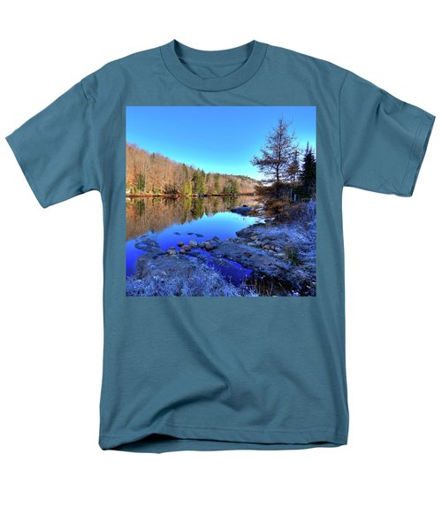 Men's T-Shirt  (Regular Fit) featuring the photograph A November Morning On The Pond by David Patterson