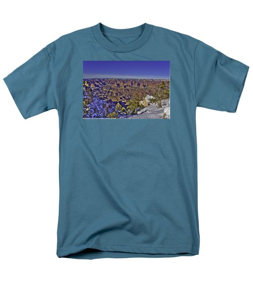 A Snowy Grand Canyon Men's T-Shirt  (Regular Fit)