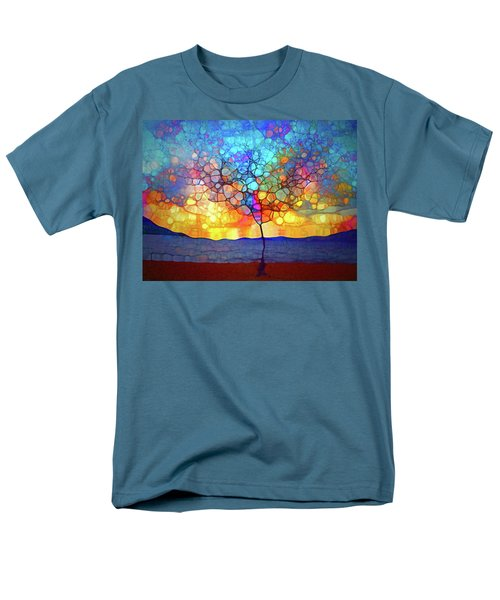 Men's T-Shirt  (Regular Fit) featuring the digital art A Tree For A New Season by Tara Turner