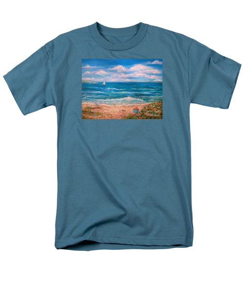 A Walk In The Sand Men's T-Shirt  (Regular Fit) by Dee Davis