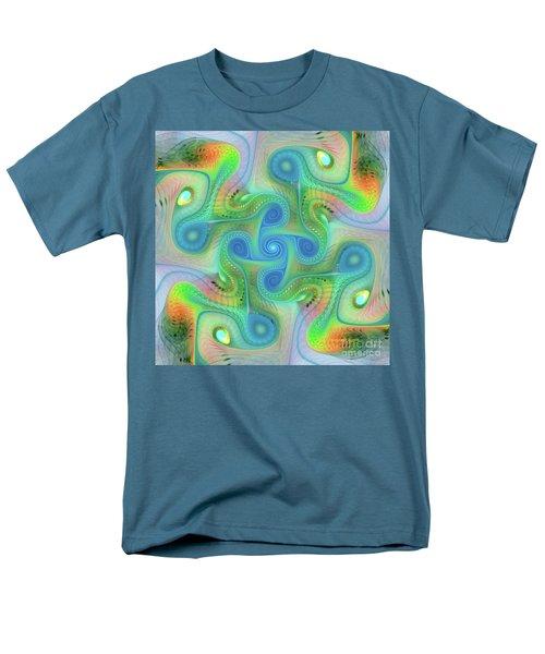 Men's T-Shirt  (Regular Fit) featuring the digital art Abstract Gnarl by Deborah Benoit