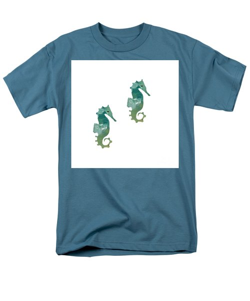Abstract Acrylic Painting Sea Horse Men's T-Shirt  (Regular Fit) by Saribelle Rodriguez