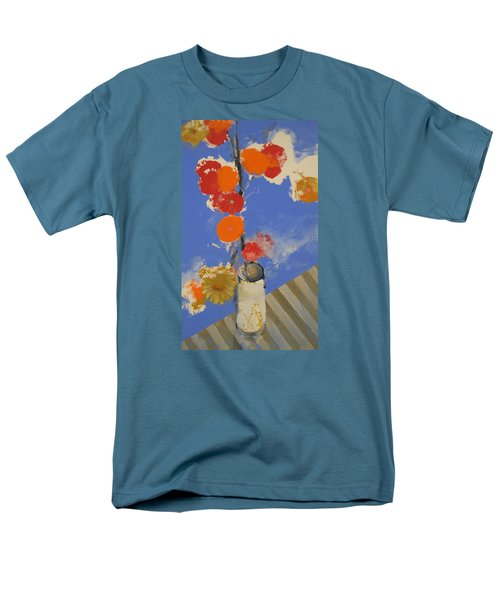 Abstracted Flowers In Ceramic Vase  Men's T-Shirt  (Regular Fit) by Cliff Spohn