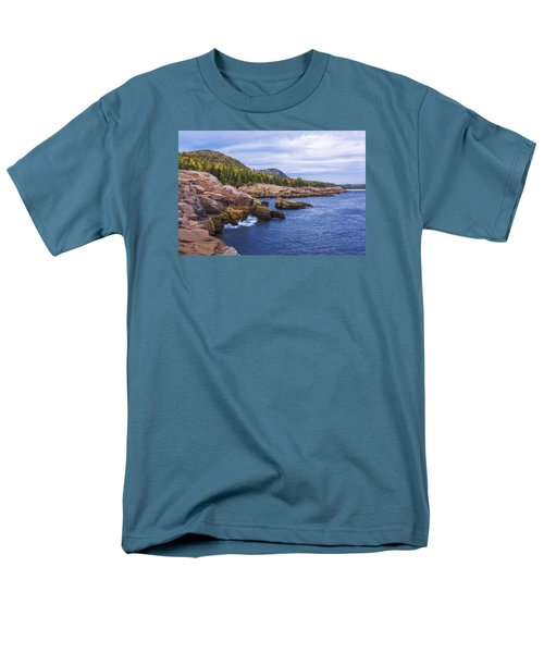Men's T-Shirt  (Regular Fit) featuring the photograph Acadia's Coast by Chad Dutson