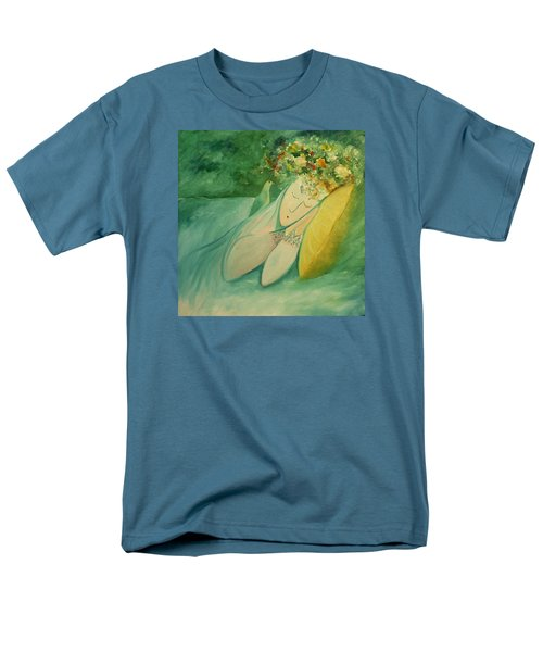 Men's T-Shirt  (Regular Fit) featuring the painting Afternoon Nap In The Garden by Tone Aanderaa
