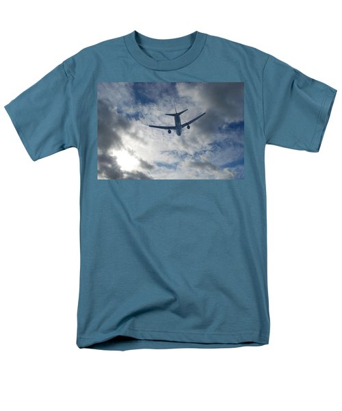Men's T-Shirt  (Regular Fit) featuring the photograph Airliner 01 by Mark Alan Perry