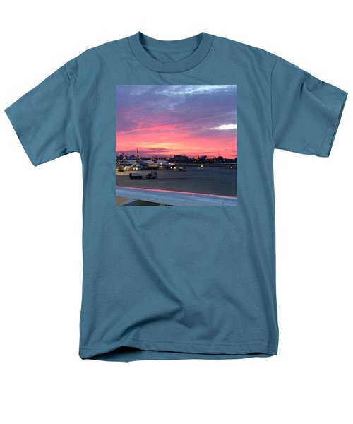 London City Airport Sunset Men's T-Shirt  (Regular Fit) by Patsy Jawo