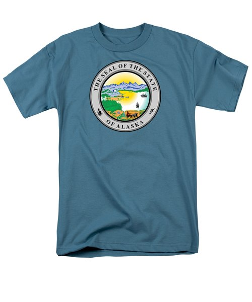 Alaska State Seal Men's T-Shirt  (Regular Fit) by Movie Poster Prints
