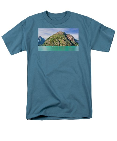Men's T-Shirt  (Regular Fit) featuring the photograph Alaskan Day Cruise by Lewis Mann