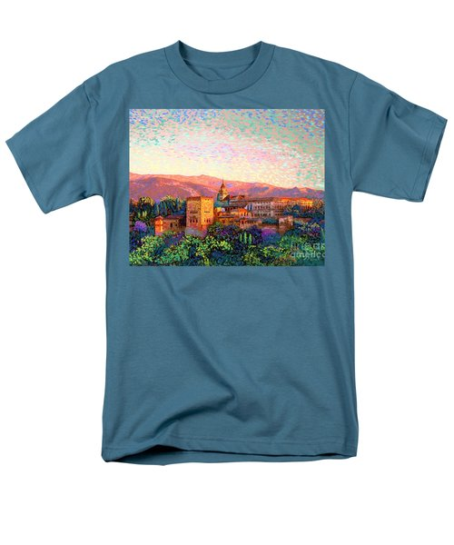 Men's T-Shirt  (Regular Fit) featuring the painting Alhambra, Grenada, Spain by Jane Small