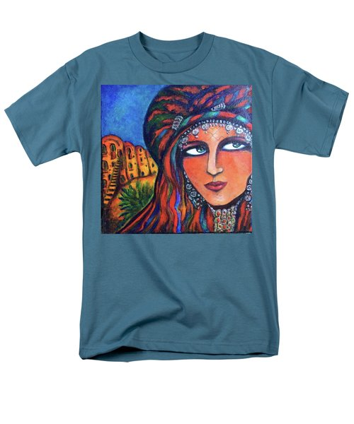 Men's T-Shirt  (Regular Fit) featuring the painting Amazigh Beauty 2 by Rae Chichilnitsky