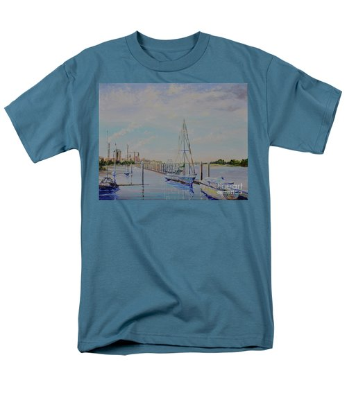 Men's T-Shirt  (Regular Fit) featuring the painting Amelia Island Port by AnnaJo Vahle