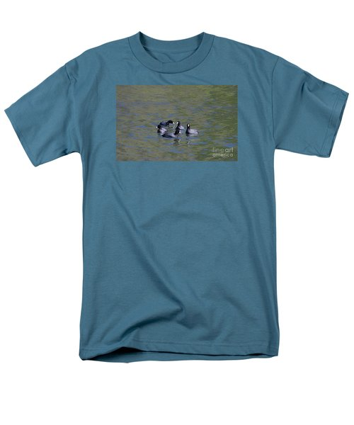 Men's T-Shirt  (Regular Fit) featuring the photograph American Coots 20120405_278a by Tina Hopkins