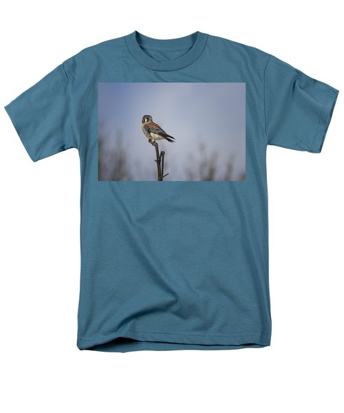 American Kestrel Men's T-Shirt  (Regular Fit) by Gary Hall