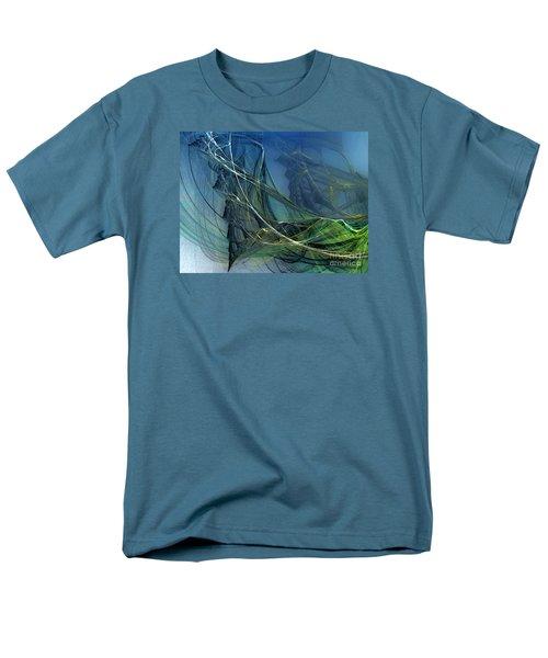 Men's T-Shirt  (Regular Fit) featuring the digital art An Echo Of Speed by Karin Kuhlmann